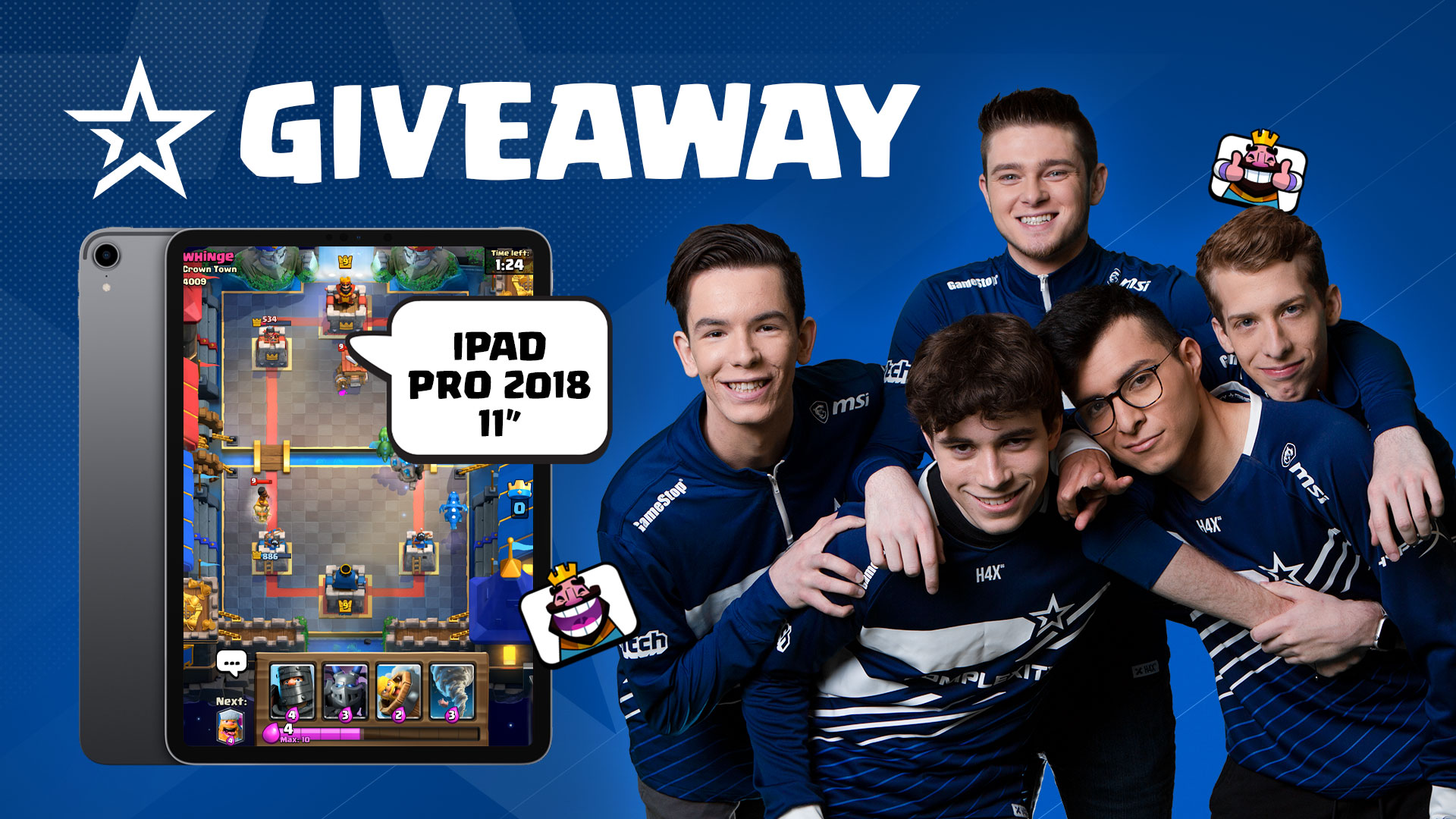 Complexity Clash Royale Team Ipad Giveaway