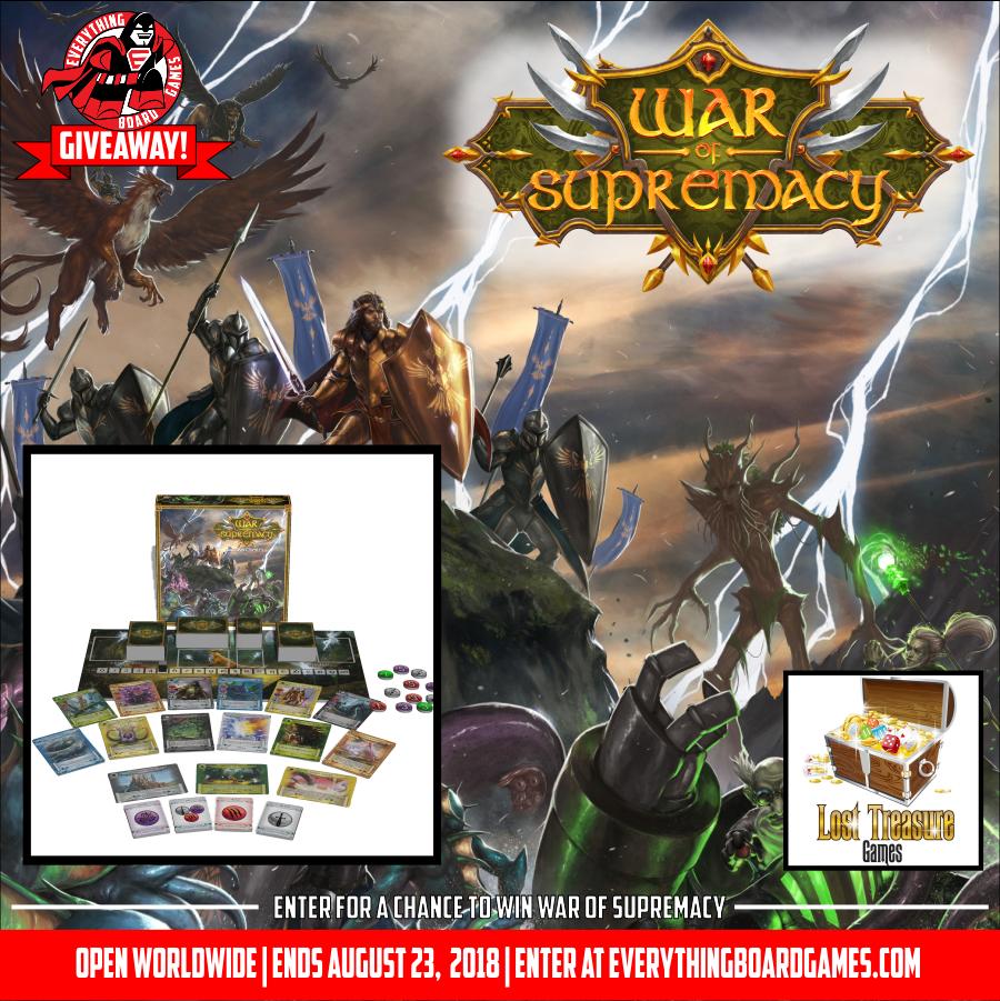 War of Supremacy Giveaway