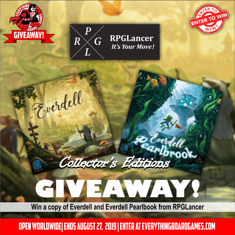 Win the board games Everdell and Everdell Pearlbrook Giveaway Image