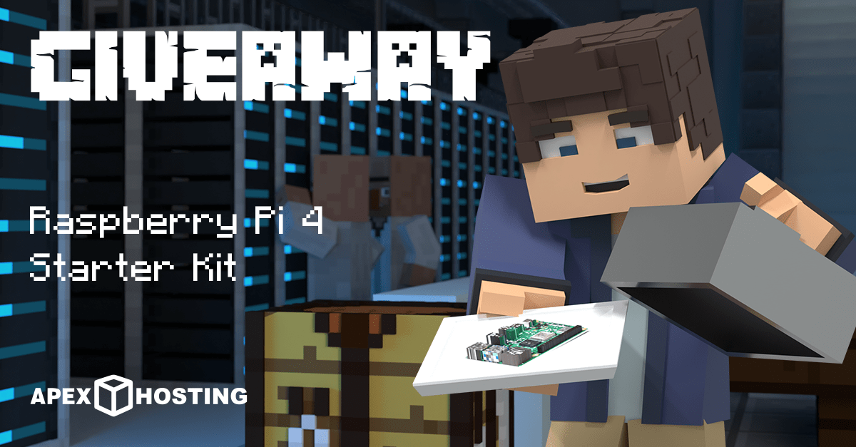 2GB Minecraft Hosting Server and Raspberry Pi 4 8GB Starter Kit Giveaway Image