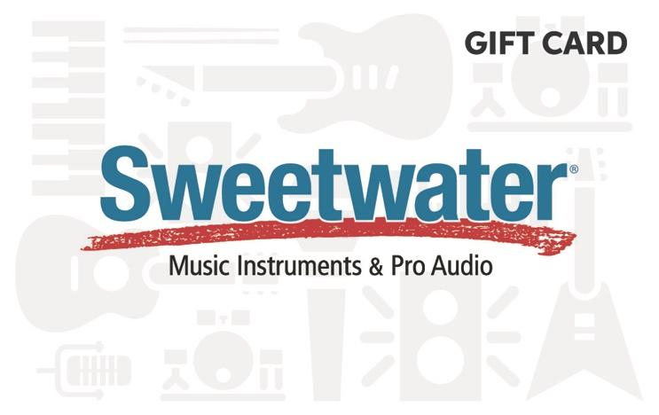 Win a $50 giftcard to Sweetwater Musical Instrument Store Giveaway Image