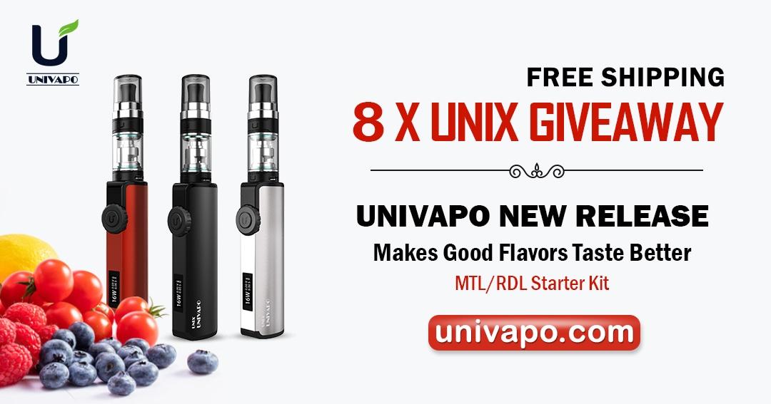 8 X UNIX kits Kits Univapo Giveaway Giveaway Image