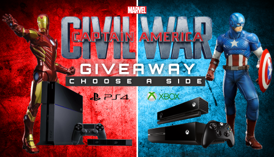 Ultimate Captain America Civil War Giveaway! Win an Xbox One or PS4 Courtesy of Geek Fuel.