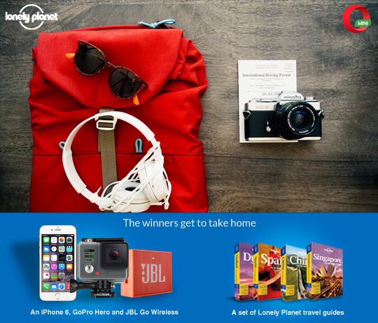 Opera & Lonely Planet India present #TravelJugaad contest