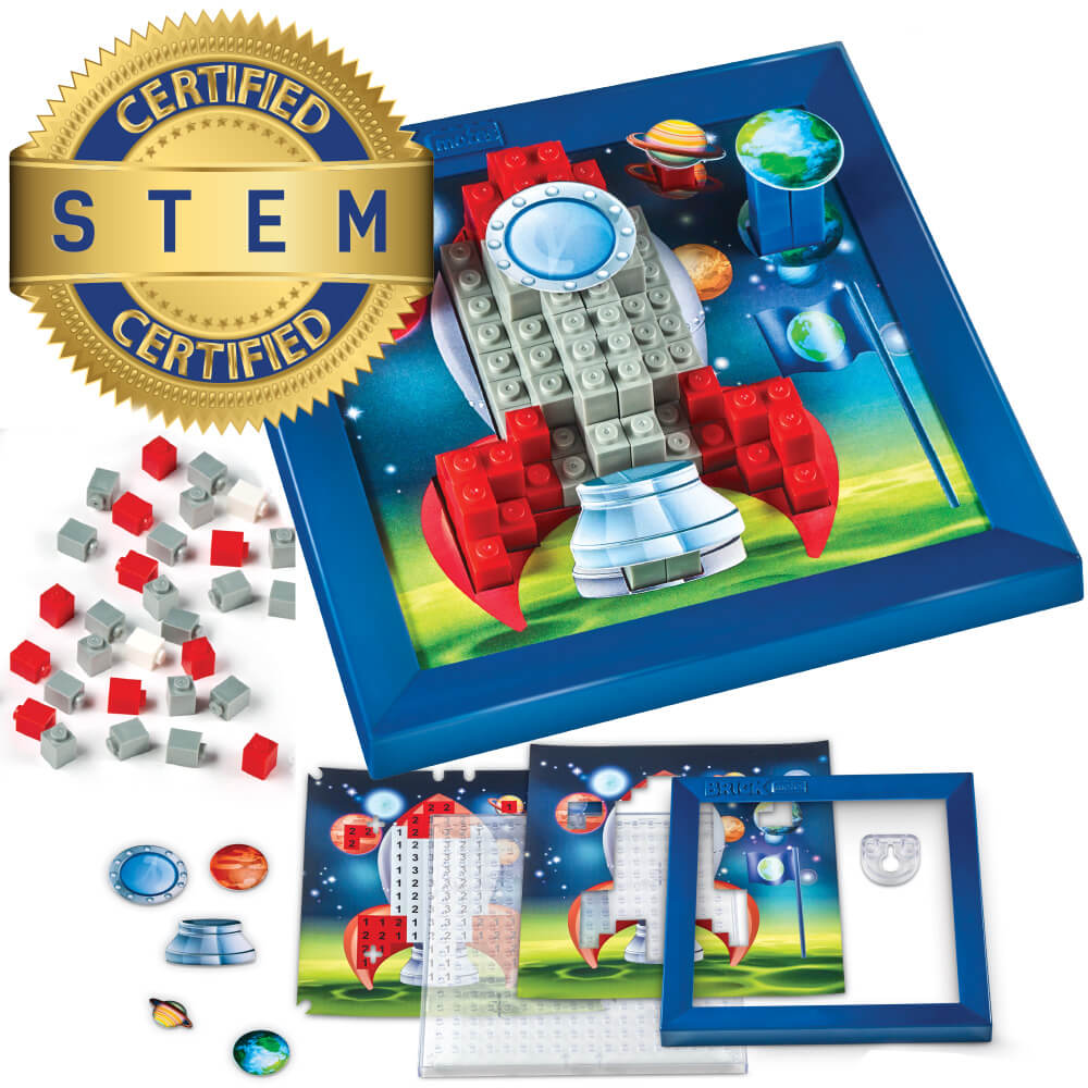 Enter for a chance to win a Stack by Numbers Puzzle from Brick Mates in the Rocket Pattern! Giveaway Image