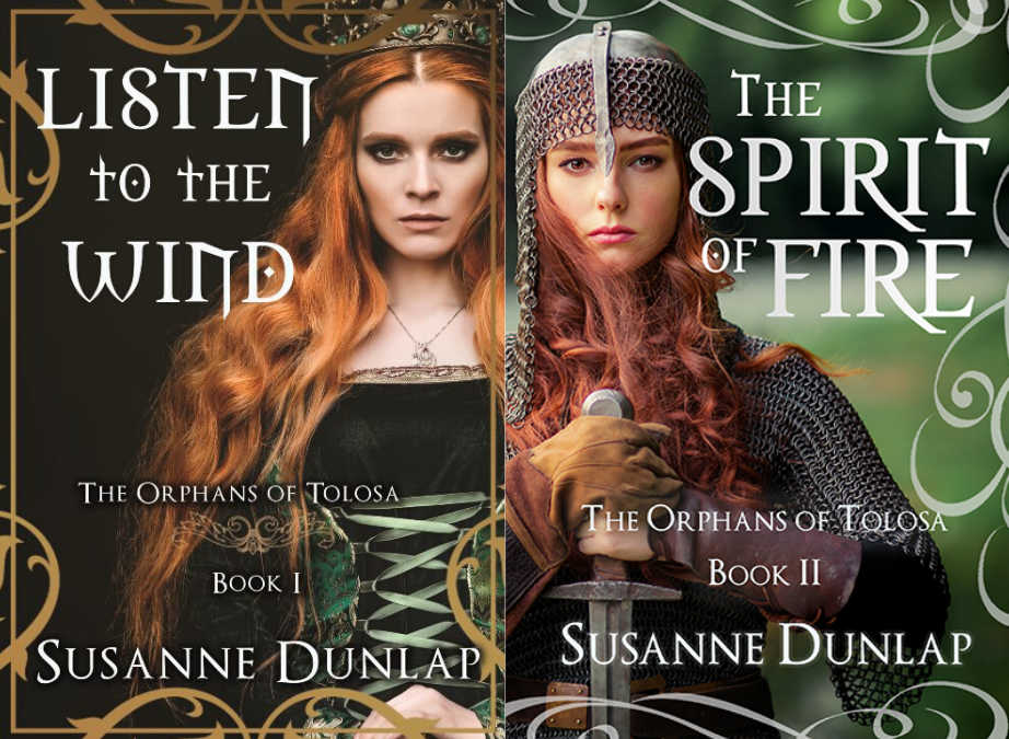 Enter to win a set of physical book copies of Listen to the Wind & The Spirit of Fire by Susanne Dunlap Giveaway Image