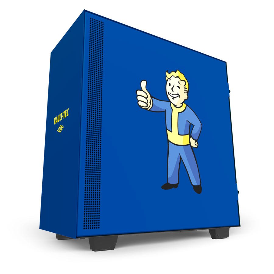 Win this custom NZXT H500 Vault Boy PC case and N7 Z390 Vault Boy motherboard cover! Giveaway Image