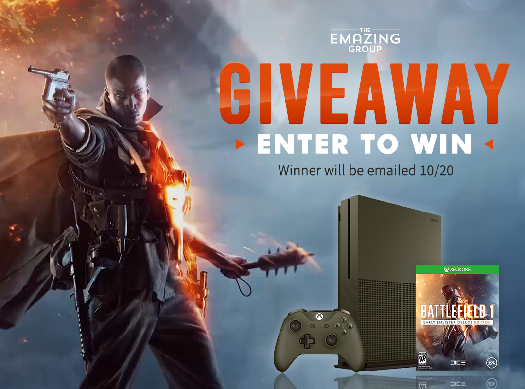 Battlefield 1 Xbox One S Bundle Giveaway