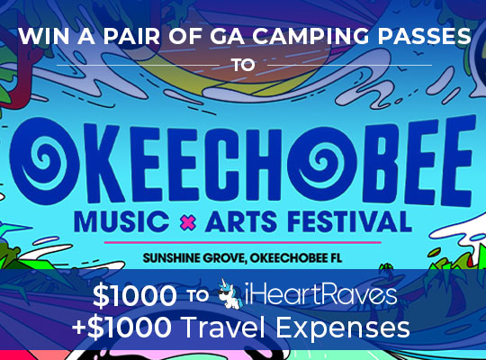 Win $1000 to iHeartRaves, $1000 for travel expenses and two passes to Okeechobee Festival Giveaway Image