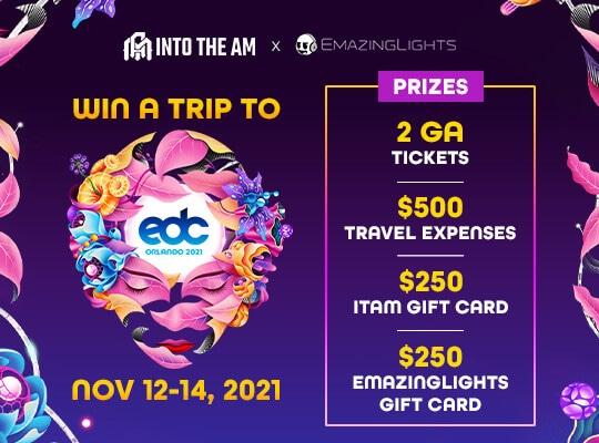 INTO THE AM x EmazingLights - Win a Trip to EDC Orlando 2021