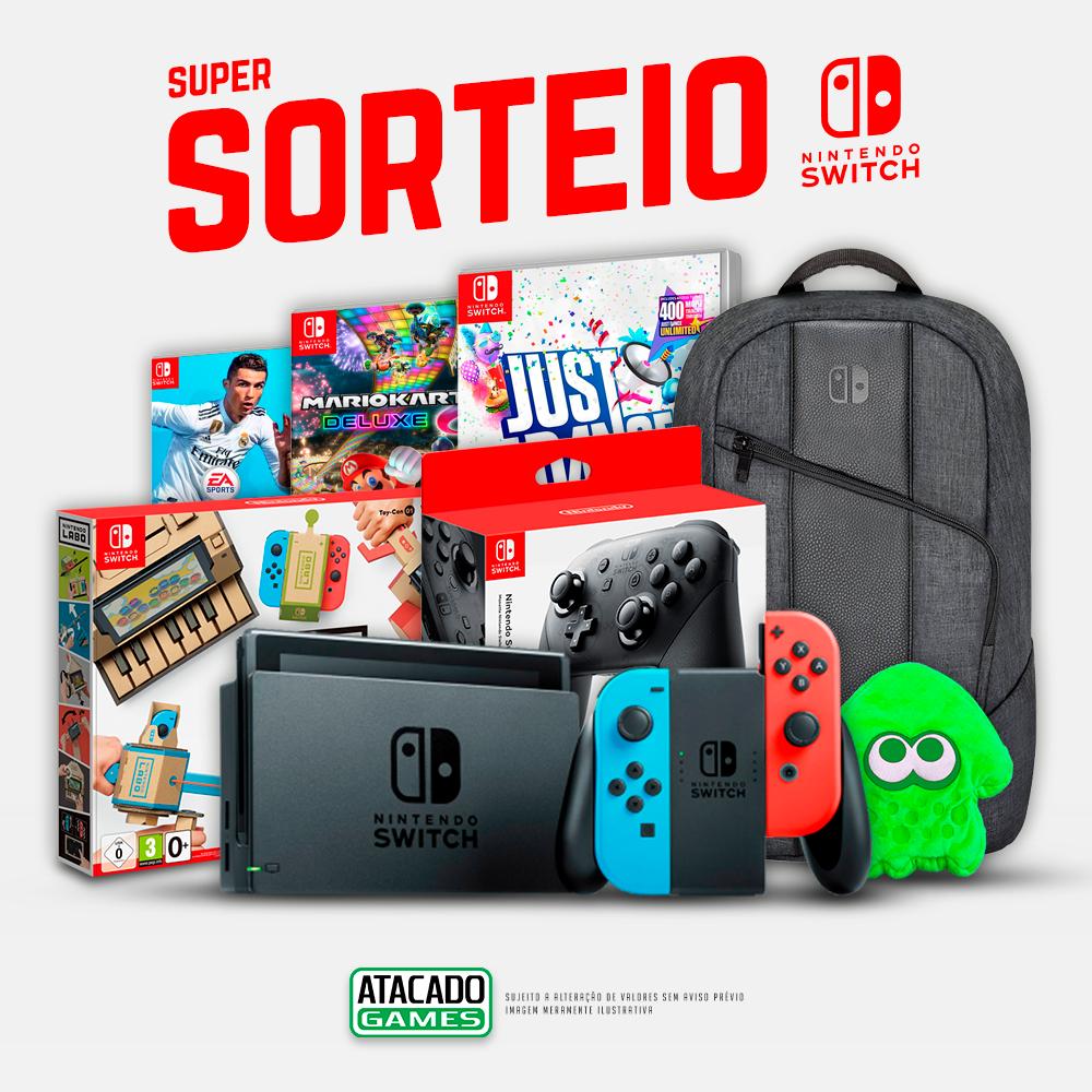 SUPER SORTEIO DE NATAL COM KIT NINTENDO