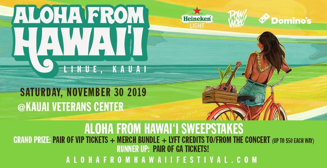 Aloha From Hawaii Ticket Giveaway!