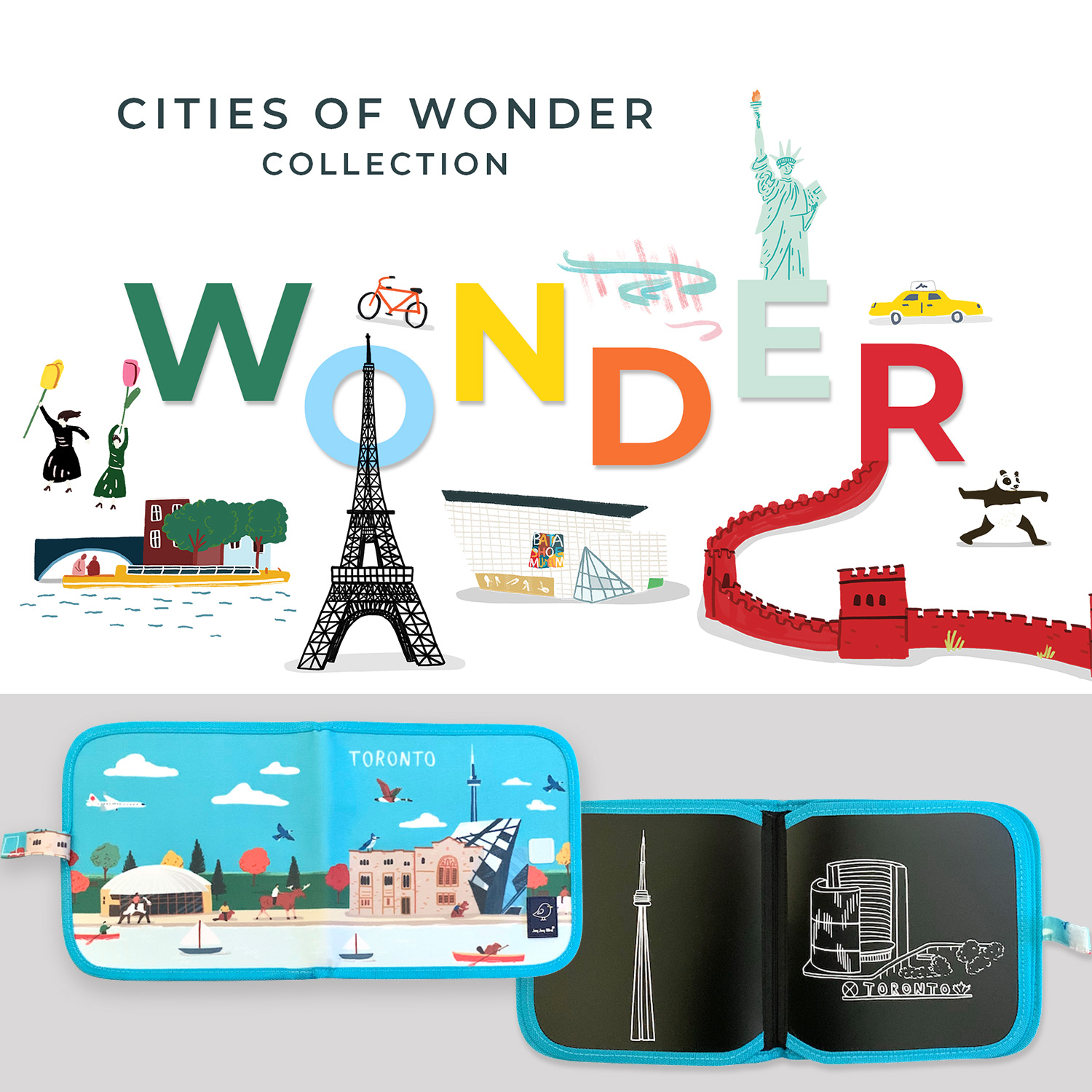 Enter to win a Cities of Wonder erasable book package. 8 Winners! Giveaway Image