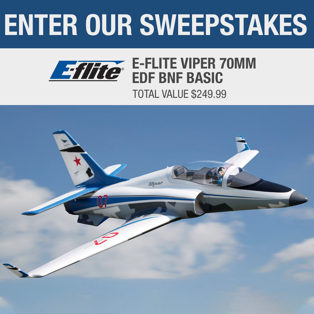 Win an E-flite Viper 70mm EDF Remote Controlled Fighter Jet, worth $250! Giveaway Image
