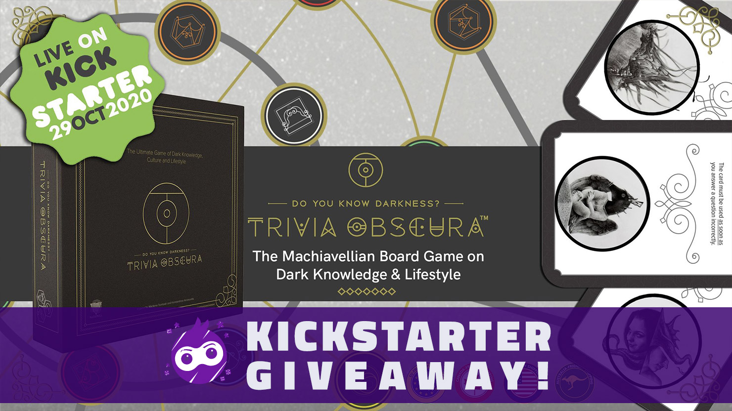 Win the board game Trivia Obscura Giveaway Image