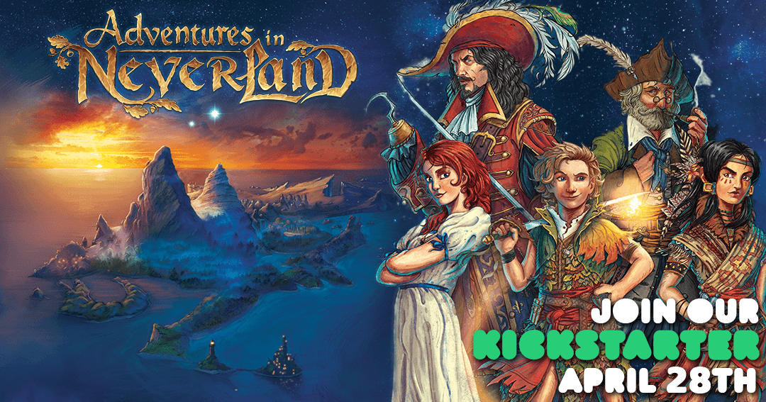 Win the board game Adventures in Neverland Giveaway Image