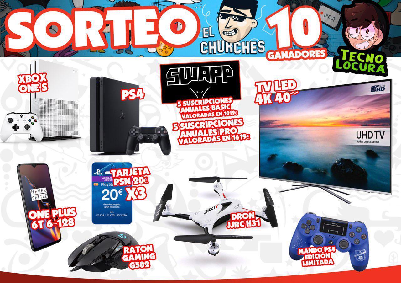 SORTEO INTERNACIONAL VALORADO EN MÁS DE 3000€