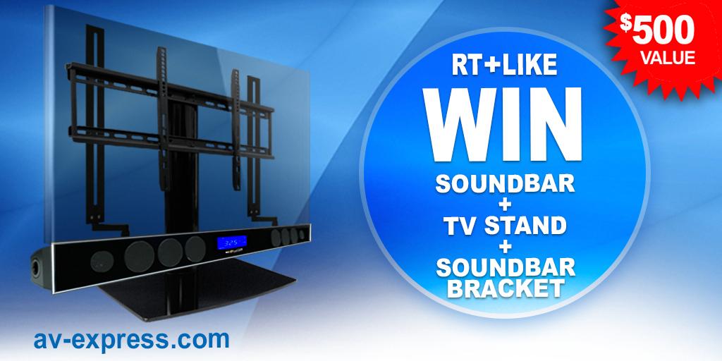 Win Universal TV Stand, Soundbar Bracket, Soundbar
