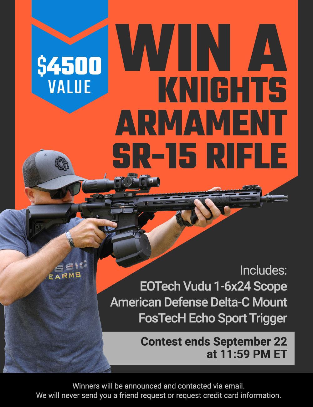 Win A Knights Armament SR-15 Rifle w/ EOTech Vudu Scope