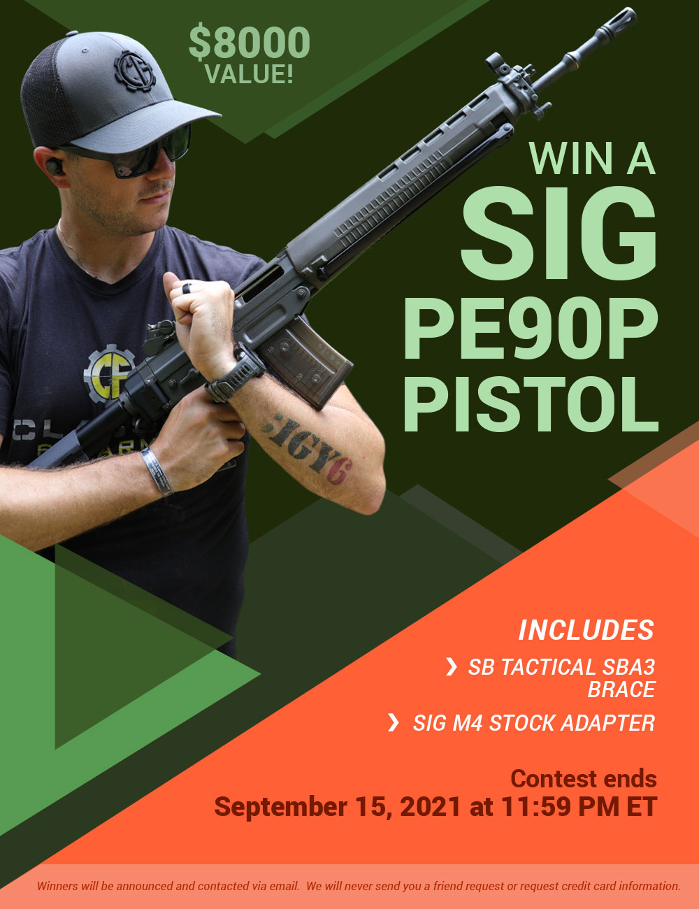 online contests, sweepstakes and giveaways - Win A Sig Sauer PE90 Pistol