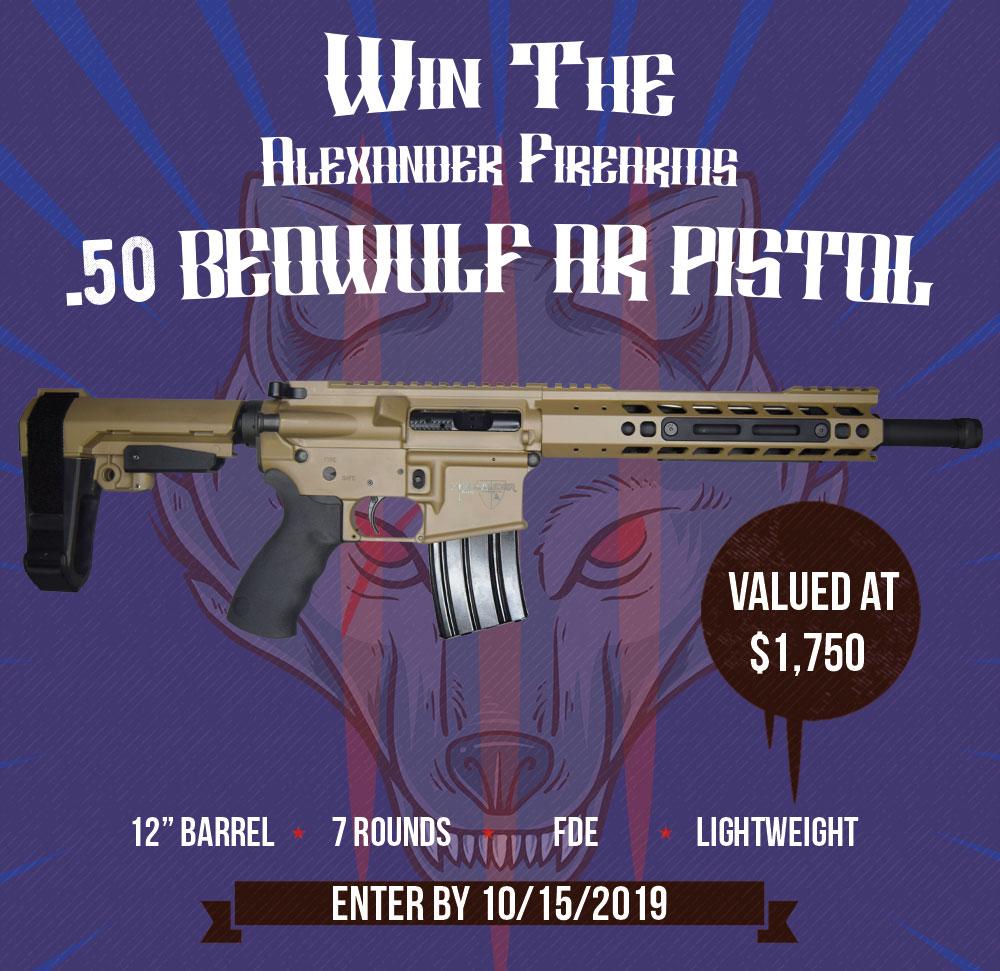 Win An Alexander Firearms .50 Beowulf Ar Pistol