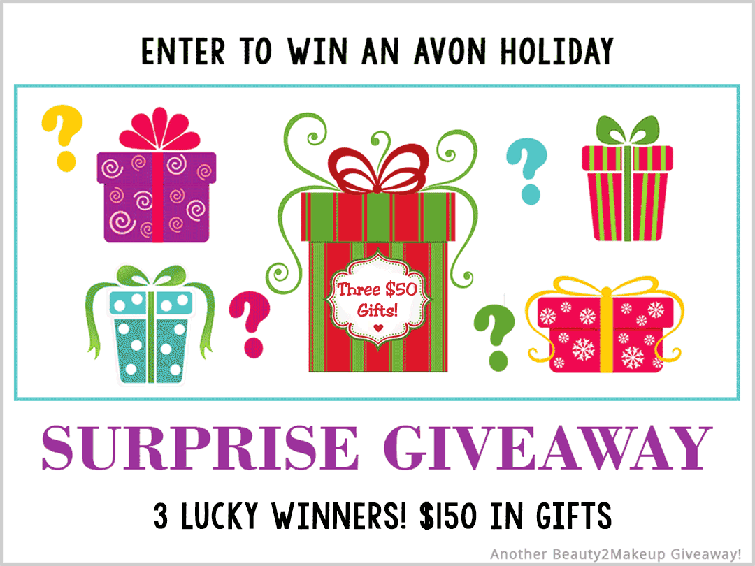 Avon Black Friday Holiday Giveaway. Win a $50 Avon Surprise Gift From Avon 3 Winners Giveaway Image