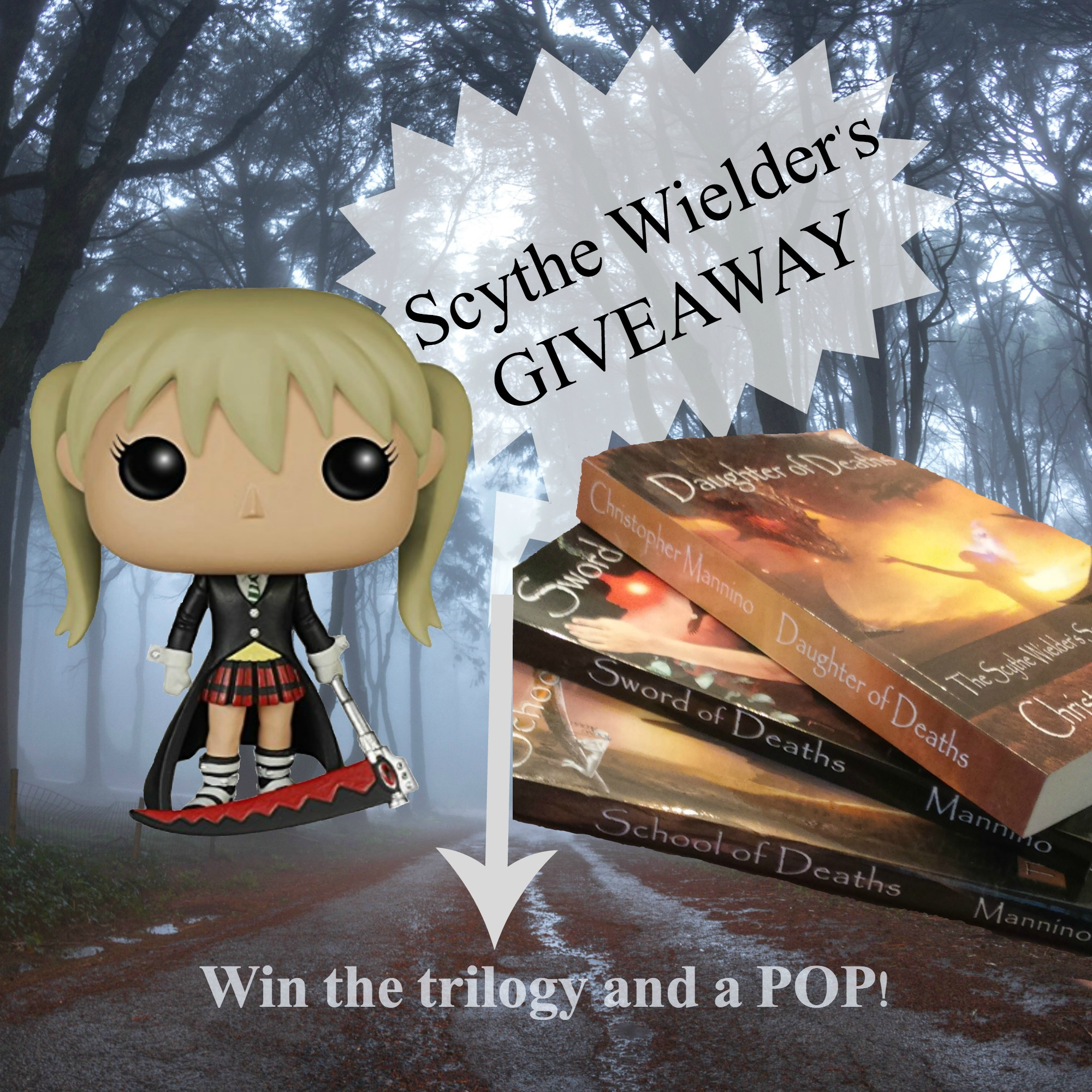 THE SCYTHE WIELDER'S SECRET Trilogy in paperback and a POP Figure!