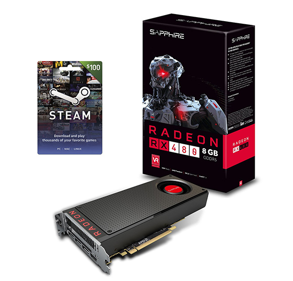 Win an AMD RX 480 and $100 Steam gift card