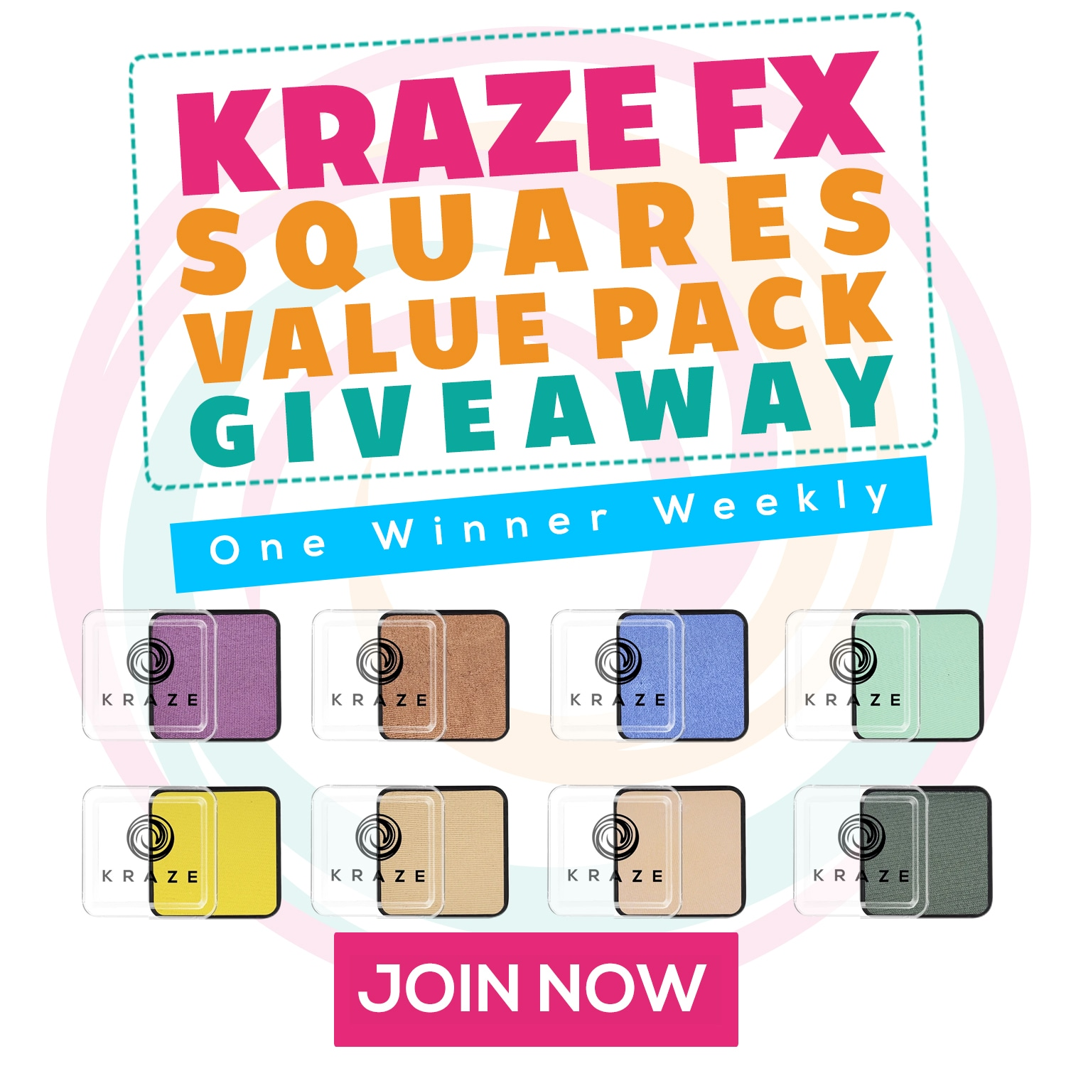 Enter to win a Kraze FX Squares Value Pack. Weekly Winner!  Winner will be responsible for shipping fees Giveaway Image