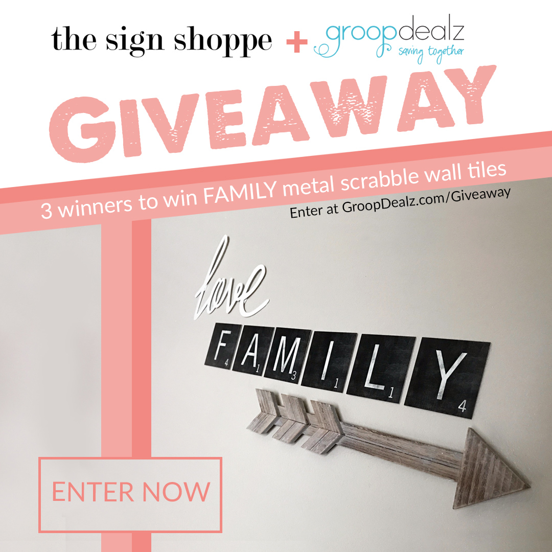 enter to win signs 3 winners will win a family scrabble metal wall ...
