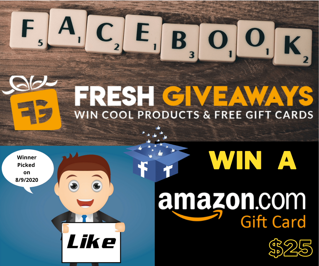 Win 25$ USD Amazon Gift Card Giveaway Image
