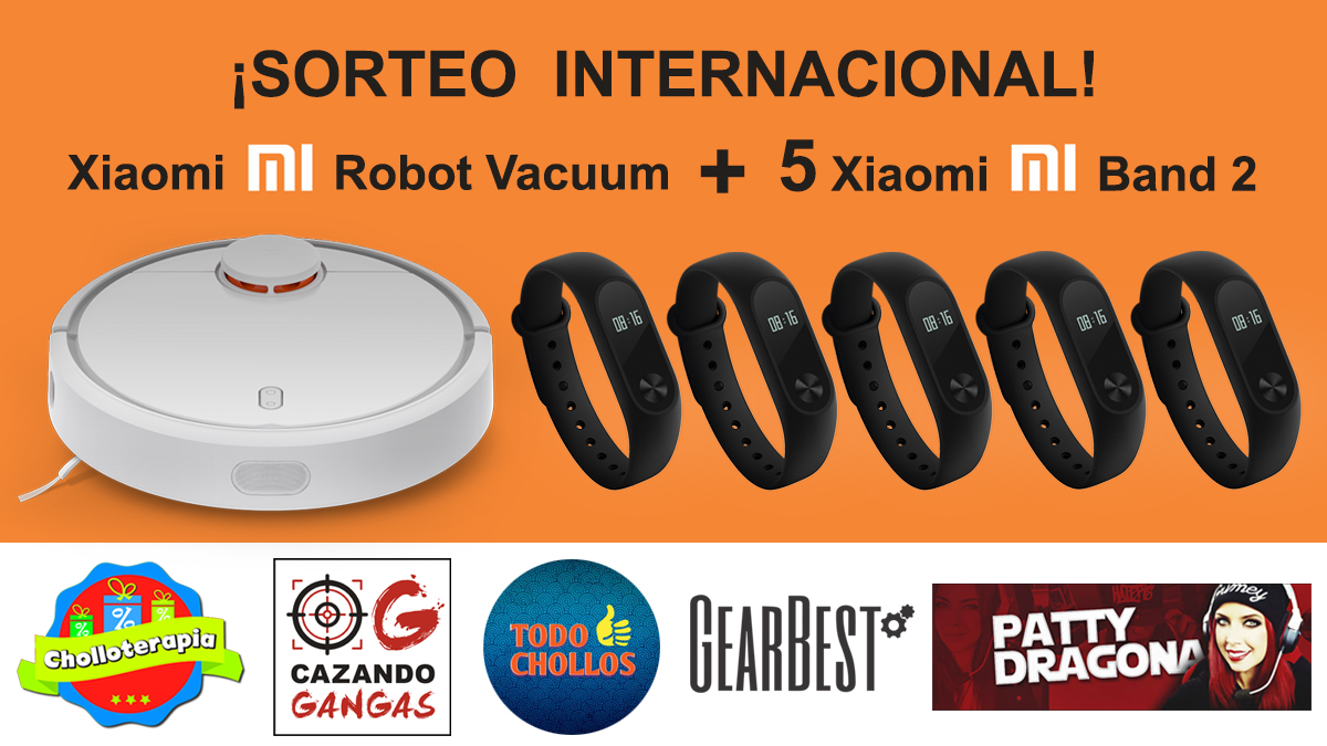 ¡Sorteo Internacional: Robot aspirador Xiaomi Vacuum y 5 Xiaomi Mibands 2 !