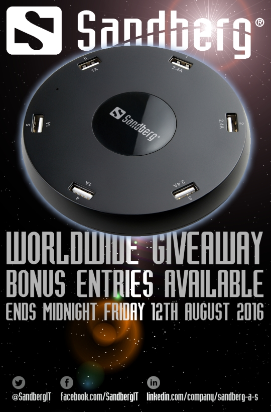 Sandberg USB Master Charger 3x2.4A+3x1A Worldwide Giveaway