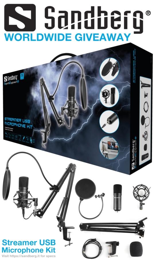 Streamer USB Microphone Kit Giveaway Image