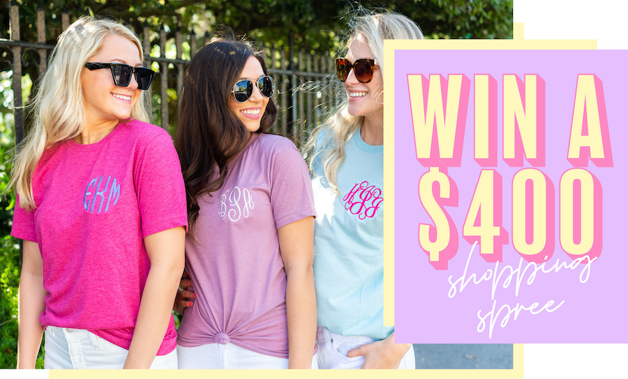 Win a $400 United Monograms Shopping Spree - 3 winners Giveaway Image