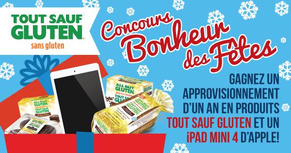 Concours « Bonheur des Fêtes avec Tout Sauf Gluten »
