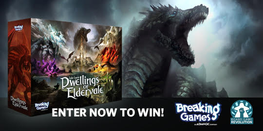 Win the board game Dwellings of Eldervale Giveaway Image