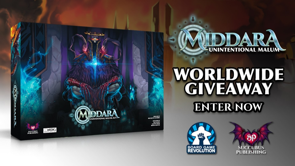 Win upgraded Middara Board Game (worth 240$) | Middara Web Store Launch | Worldwide Giveaway Giveaway Image