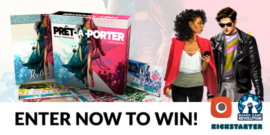 """Enter for a chance to win a copy of the board game """"Pret-A-Porter"""" and all applicable stretch goals! Giveaway Image"""