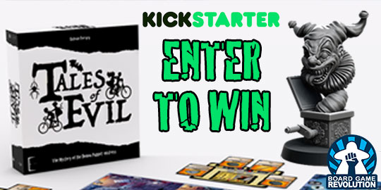 Win the board game Tales of Evil Giveaway Image
