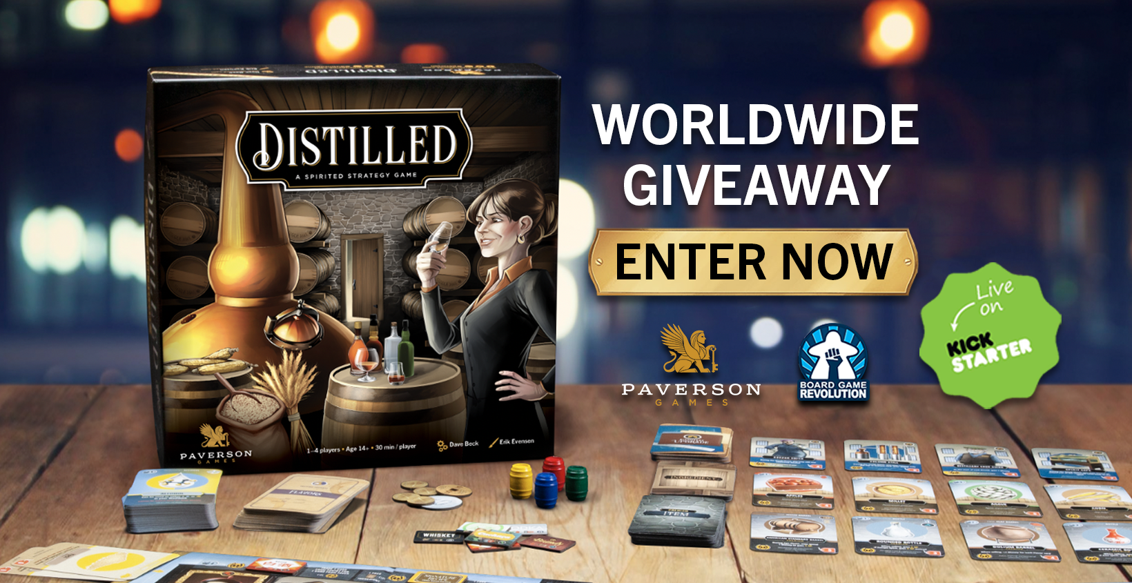 Enter to win a copy of the Card Game 'Distilled'. Giveaway Image