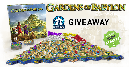 Win the board game Gardens of Babylon: Deluxe Edition Giveaway Image