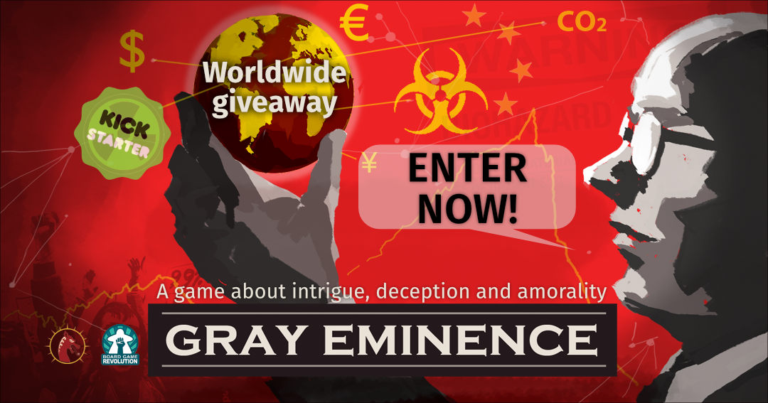 Win the board game Gray Eminence Giveaway Image