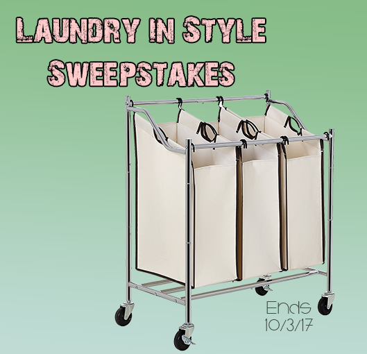 Laundry in Style Sweepstakes - Win a stylish 3-bag rolling laundry cart