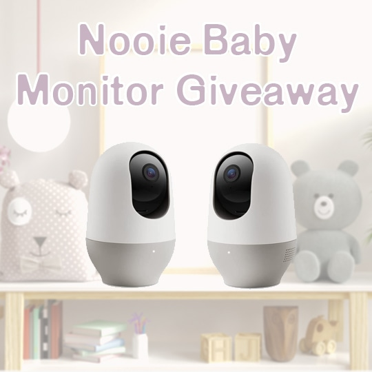 Enter to win a Nooie Baby Monitor and a 360-degree Baby Camera. $75 Value. Giveaway Image