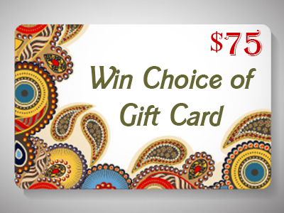 Win Your Choice of $75 USD Gift Card or PayPal (Worldwide)