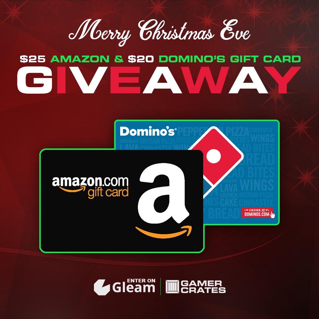 Christmas Eve Gift Card Giveaway - $25 Amazon Gift Card & $20 Domino's Gift Card Giveaway Giveaway Image