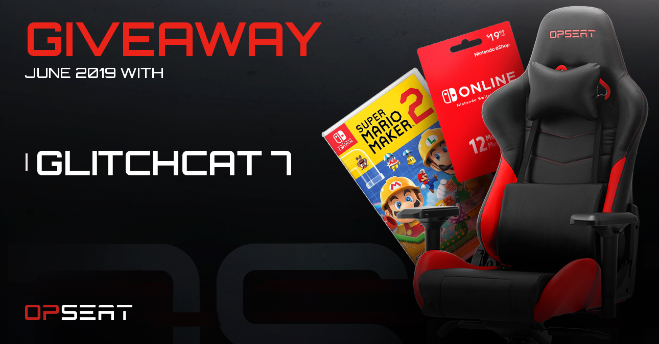 Super Mario Maker 2 Giveaway + OPSEAT gaming chair Giveaway Image