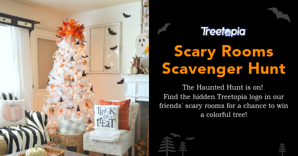 Treetopia's Scary Rooms Scavenger Hunt - Win a Christmas Tree - 3 Winners! Giveaway Image