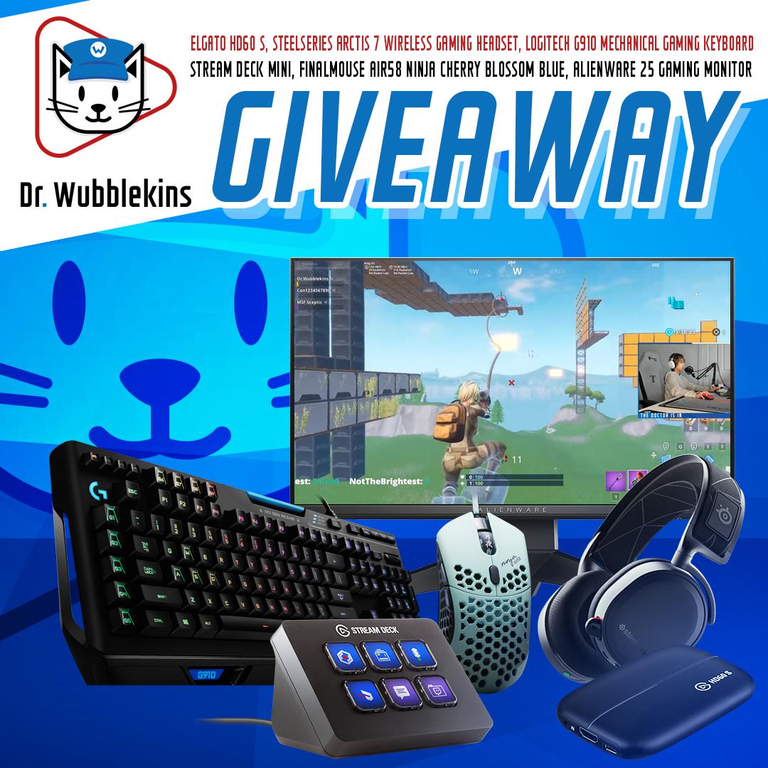 ThinkGiveaways - Dr  Wubblekins Gaming Setup Giveaway